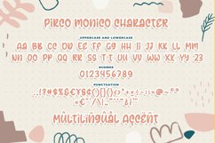 Pirco Monico -Playful Quirky Font Product Image 6