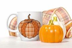 Sublimation Plaid Pumpkin Design PNG Product Image 2
