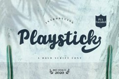 Playstick - Bold Script Font Product Image 1