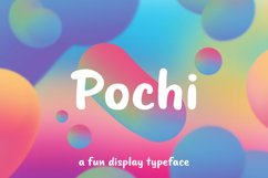Pochi - A Fun Display Typeface Product Image 1
