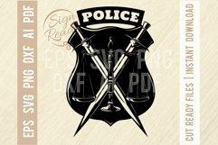 Police badge SVG, Police Stencil cut file, Police svg Product Image 1