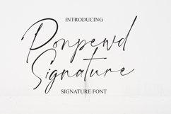 Ponpewd Signature Script Brush Font Product Image 1