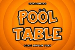 Web Font Pool Table - Comic Display Font Product Image 1