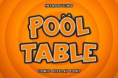 Pool Table - Comic Display Font Product Image 1