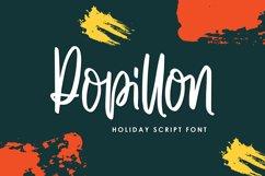 Popillon - Holiday Script Font Product Image 1