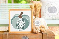 Floral Leaves Pumpkin SVG | Fall / Autumn Design Product Image 4