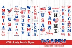 4th of july svg bundle, 4th of july porch sign Product Image 1