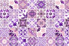 Portuguese Purple Azulejo Tiles Set4 Product Image 6