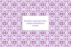 Portuguese Purple Azulejo Tiles Set4 Product Image 2