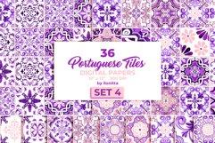 Portuguese Purple Azulejo Tiles Set4 Product Image 1