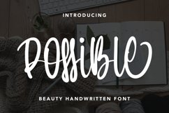 Possible - Beauty Handwritten Font Product Image 1