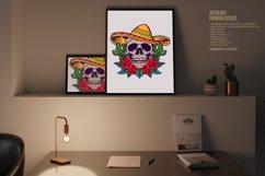 Cinco de Mayo Mexican Skull Logo Mascot Product Image 2