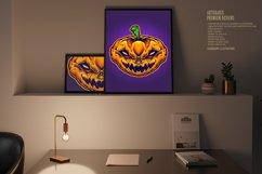Halloween Skull Monster Carved Mascot Product Image 3