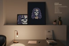 Psychedelic Skull Rasta Character SVG Illustrations Product Image 2