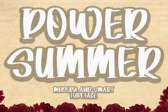 Power Summer - Modern Smart Typeface Product Image 1