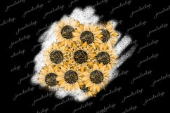 Distressed sunflower leopard patches png bleach background Product Image 1