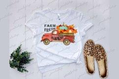 Farm fresh pumpkins truck clipart PNGfor sublimation Product Image 2