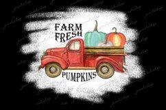 Farm fresh pumpkins truck PNG clipart for sublimation Product Image 1