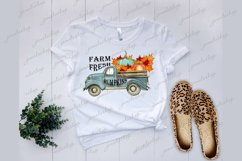Farm fresh pumpkins truck PNG clipart for sublimation Product Image 2