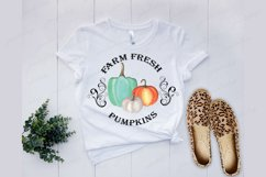 Farm fresh pumpkins clipart Watercolor Sublimation png Product Image 2