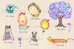 Watercolor cartoon clipart. Funny baby animals. Product Image 2
