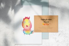 Watercolor cartoon clipart. Funny baby animals. Product Image 4