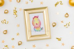 Watercolor cartoon clipart. Funny baby animals. Product Image 5