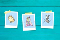 Watercolor cartoon clipart. Funny baby animals. Product Image 3