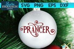 Reindeer Prancer SVG Cut File   Christmas Ornament SVG Product Image 1