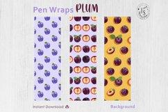 Plum Fruit Pen Wraps PNG File Set Product Image 2