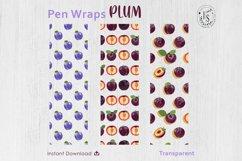 Plum Fruit Pen Wraps PNG File Set Product Image 3