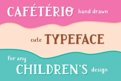 Cafeterio cute kid's font Product Image 2