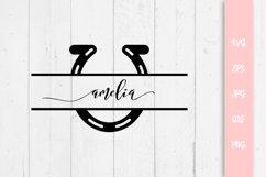 Horseshoe Split Custom Name SVG File Product Image 1