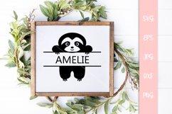 Cute Sloth Custom Name SVG File Product Image 3