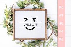Horseshoe Split Custom Name SVG File Product Image 3