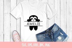 Cute Sloth Custom Name SVG File Product Image 2