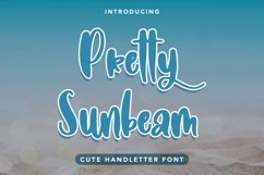Web Font Pretty Sunbeam - Cute Handletter Font Product Image 1