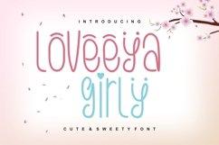 Loveeya Girly Font Product Image 1