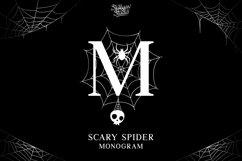 Scary Spider Monogram Font - Split Letter Product Image 1