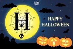 Scary Spider Monogram Font - Split Letter Product Image 2