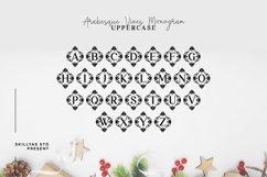 Arabesque Vines Monogram Font - A-Z Lettered Frames Product Image 3