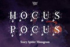 Scary Spider Monogram Font - Split Letter Product Image 4