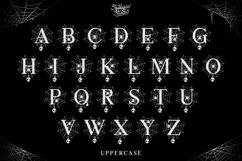 Scary Spider Monogram Font - Split Letter Product Image 5