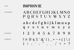 IMPROVIE - Bold Serif Font Product Image 4