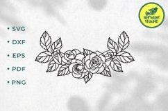 Rose border SVG, Roses floral wedding garland cut file Product Image 1
