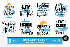 Sublimation fishing quotes bundle Product Image 1