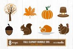 Fall autumn clipart bundle svg Product Image 1