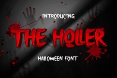 The Holler a Halloween Font Product Image 1