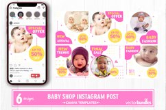 Baby shop instagram post canva template Product Image 1