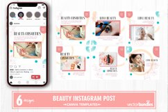 Beauty makeup instagram post canva template Product Image 1
